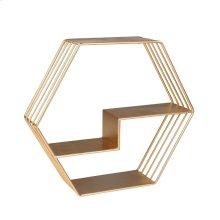 """Ec, Metal 21"""" Wall Shelf, Gold"""