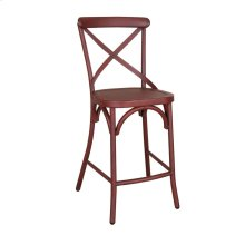 X Back Counter Chair - Red