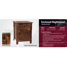 Barnwood Enclosed Nightstand