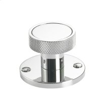 """1 3/4"""" round backplate with decorative screws"""