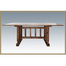 Homestead Trestle Dining Table Stained & Lacquered