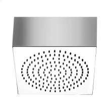 """Square SEGNI ceiling-mounted shower head 1/2"""" connections Projection from ceiling 3-9/16"""" Max flow rate 2"""