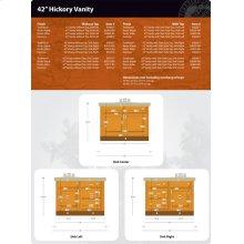 "Hickory Vanity - 42"""