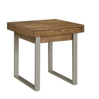 Slider End Table With Storage and Usb Port