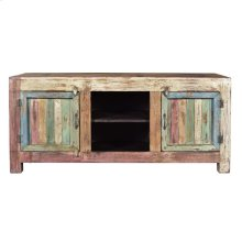 Antique Reclaimed Wood Entertainment Cabinet 03a
