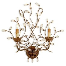 Crystal Bud Wall Sconce