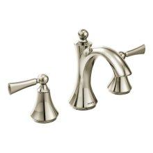 Wynford polished nickel two-handle bathroom faucet
