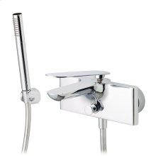 Wallmount tub filler with handshower