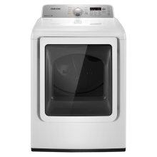 7.2 cu. ft. Super Capacity Electric Front Load Dryer (White)