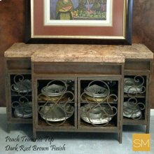 * Travertine Buffet Cabinet 1235 B