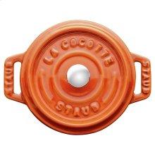 Staub Cast Iron 4-inch round Mini Cocotte, Burnt Orange