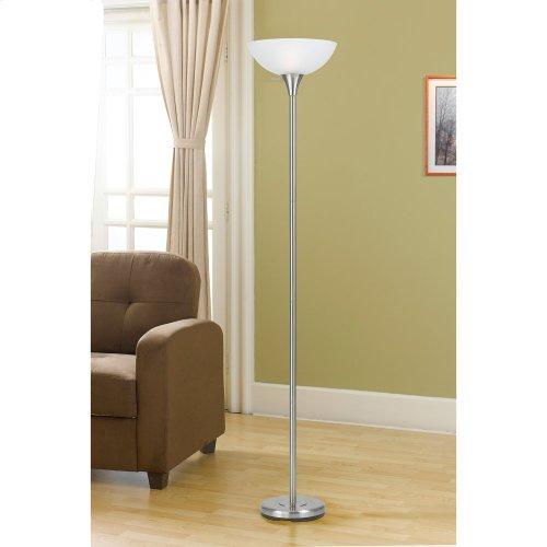 150W 3 Way Metal Tr Lamp W/Glass Sh