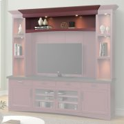 AMERICANA MODERN - CRANBERRY Hutch Bridge with LED light Product Image