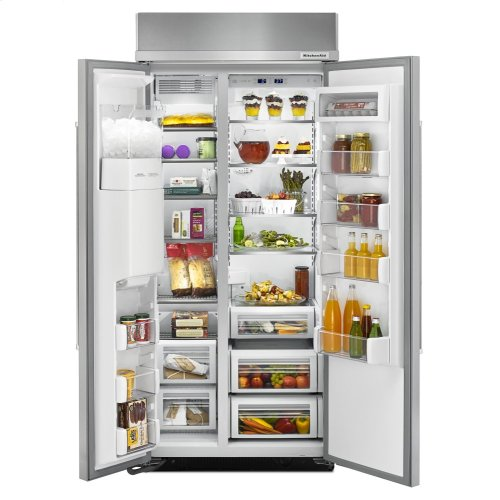 20.8 cu ft 36-Inch Width Built-In Side-by-Side Refrigerator - Stainless Steel with PrintShield™ Finish