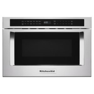 "24"" Under-Counter Microwave Oven Drawer - Stainless Steel Product Image"