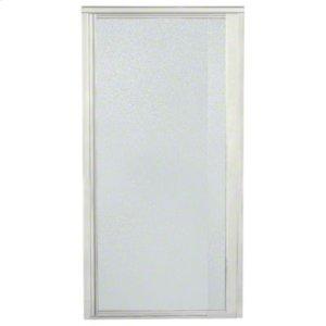 "Vista Pivot™ II Shower Door - Height 65-1/2"", Max. Opening 27-1/2"" - Nickel with Pebbled Glass Texture Product Image"