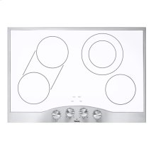 """Stainless Steel/White Glass 30"""" Electric Radiant Cooktop - DECU (30"""" wide, four elements)"""
