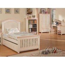 Cream / Peach Twin Size Bedroom Set