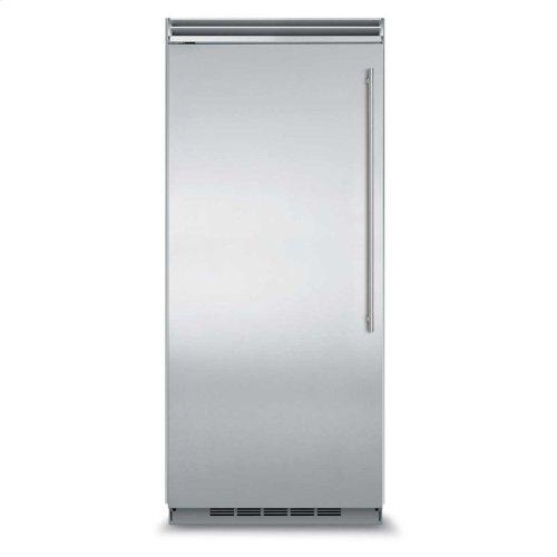 "Marvel Professional Built-In 36"" All Refrigerator - Solid Stainless Steel Door - Left Hinge, Slim Designer Handle"