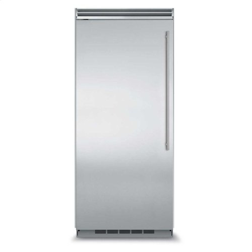 "Marvel Professional Built-In 36"" All Refrigerator - Solid Stainless Steel Door - Left Hinge, Slim Designer Handle"