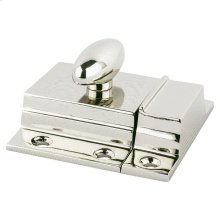 Polished Nickel Convertible Latch