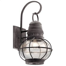 "Bridge Point 26.25"" 1 Light Wall Light Weathered Zinc"