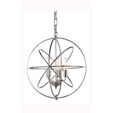 """1453 Vienna Collection Chandelier D:20"""" H:22"""" Lt:5 Polished Nickel Finish"""
