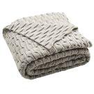 Noela Knit Throw - Light Grey Product Image