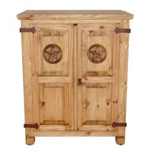 Small Short Armoire W/star