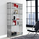 Gridiron Stainless Steel Bookshelf in Silver Product Image