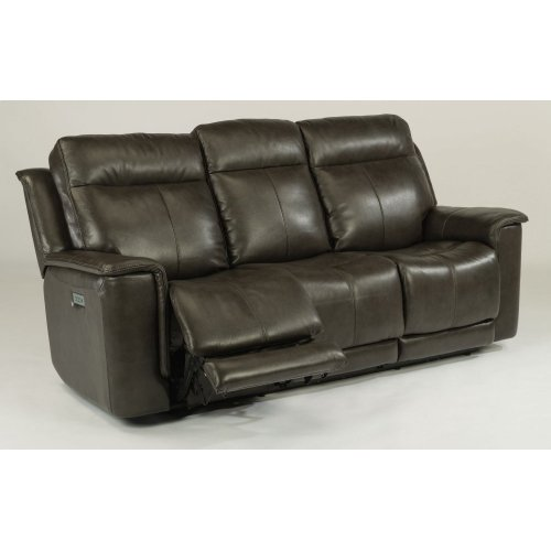 Miller Leather Power Reclining Sofa with Power Headrests