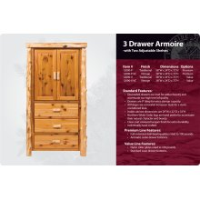 3 Drawer Armoire