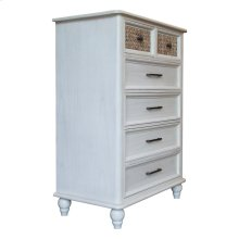 6 Drawer Chest, Available in White Sand Finish Only.