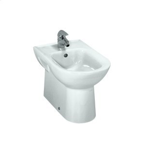 White Floorstanding bidet (option 304: with 1 centered tap hole, without lateral holes for water inlet) Product Image
