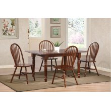 DLU-TLB3660-820-CT5PC  Andrews 5 Piece Butterfly Dining Set  Arrowback Chairs