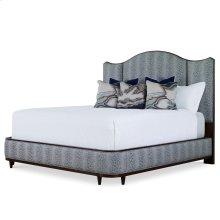 Angelina Upholstered Bed - King (Walnut)