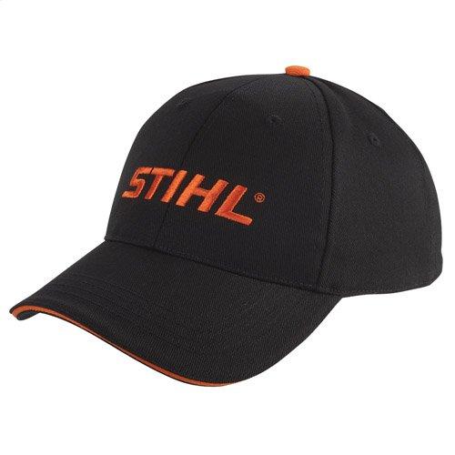 Be bold wearing this black and orange cap!