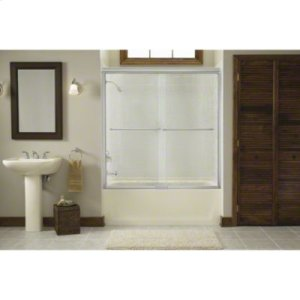 "Finesse™ Sliding Bath Door with Quick Install™ Mounting System - Height 58-3/4"", Max. Opening 59-1/4"" - Deep Bronze Product Image"