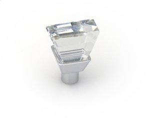 Knob 20mm X 9mm Swarovski Crystal/bright Chrome Product Image