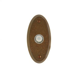 Oval Doorbell Button Silicon Bronze Brushed Product Image