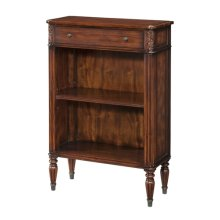 Republic Bookcase - Acacia & Leather Inlaid