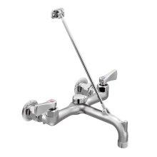 M-DURA rough chrome two-handle service sink faucet