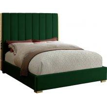 """Becca Velvet Bed - 85"""" W x 86"""" D x 61.5"""" H"""