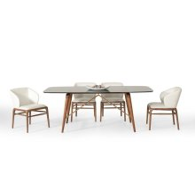 Modrest Kipling Modern Walnut Dining Set