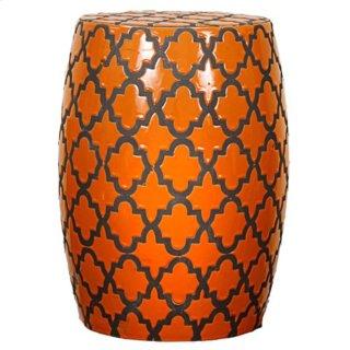 Quatrefoil Garden Stool, Tangerine