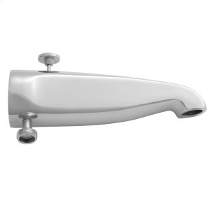"""Antique Brass - 8 1/2"""" Reach Brass Diverter Tub Spout with Handshower Outlet Product Image"""