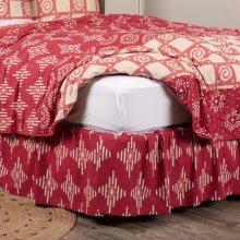 Paloma Crimson King Bed Skirt 78x80x16
