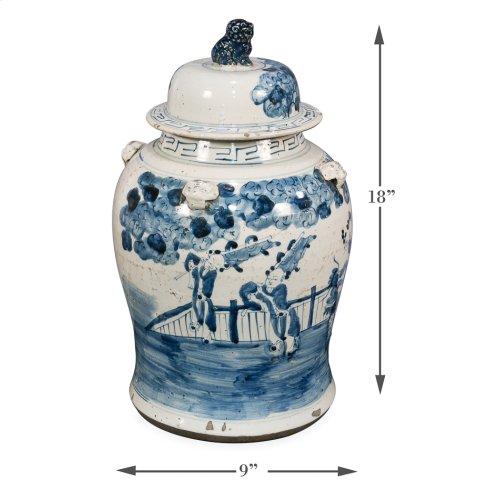 Bridges Ceramic Urn W/Lid