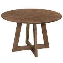 Sonos Round Dining Table in Walnut with Walnut Top