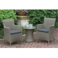 109 / Liz.p4- 3PC OUTDOOR BISTRO SET [P50262(1)+P50132(2)]